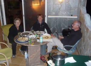 the first time away from She San we enjoy the barbeque on the balcony with Lucka and Micke