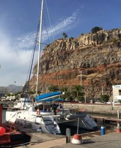 unser Liegeplatz im Hafen von San Sebastian