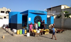 """the """"Fontaneiro"""" - the water house in Palmeira, since more than 10 years the desalinations plant delivers water to everyone"""
