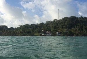 in front of Isla Grande - unfortunately the waves are not yet good, on the day before there was too much wind