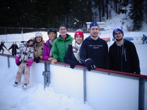 Ice scating Schiers Switzerland