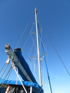 up in the mast