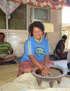 Ma preparing Kava