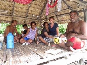 Familie in Abaiang Kiribati