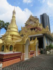 Dharmikarama Burmese Temple Golden Stupas