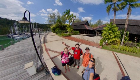 Ankunft von Gaby und Markus in der Rebak Marina