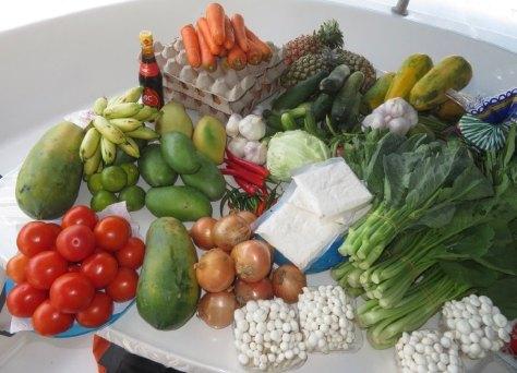 Obst und Gemüse müssen jetzt verstaut werden