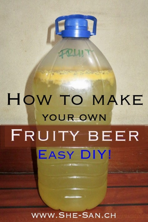 Make your own sparkling refreshing but not sweet fruit beer -lear here how to DIY!