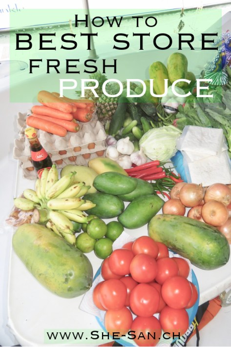 How to best store fresh produce - learn here how