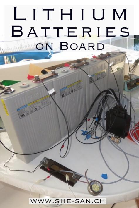 DIY Installation of Lithium Batteries on Board