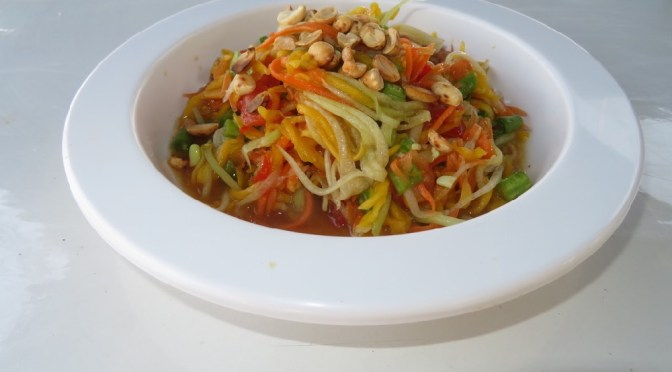 Thai Papaya Mango Salad – Som Tam Papaya / Mango