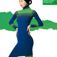 Sung Hee Kim For Benetton Blue Green Dress Ad Campaign  Fall Winter 2012