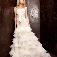 Vera Wang Bridesmaid White Bridal Prom Dress