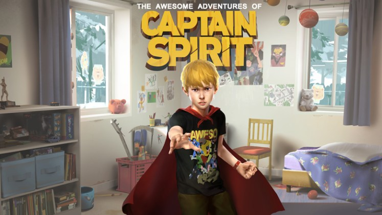 The Awesome Adventures of Captain Spirit character poster