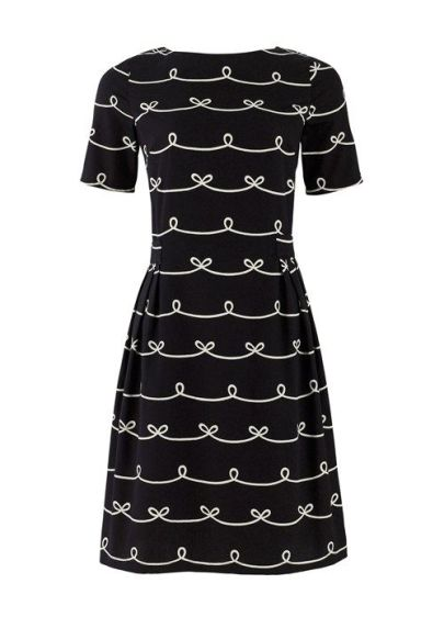 Elizabeth Dress in Bow Print £78 from People Tree