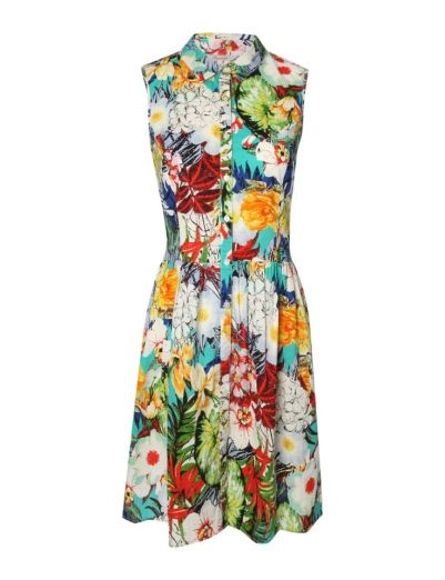 Womens Printed Shirt Dress £14 from Peacocks