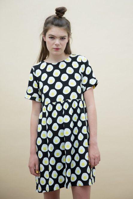 T-Shirt Smock Dress in Egg Print £55 from THE WHITEPEPPER