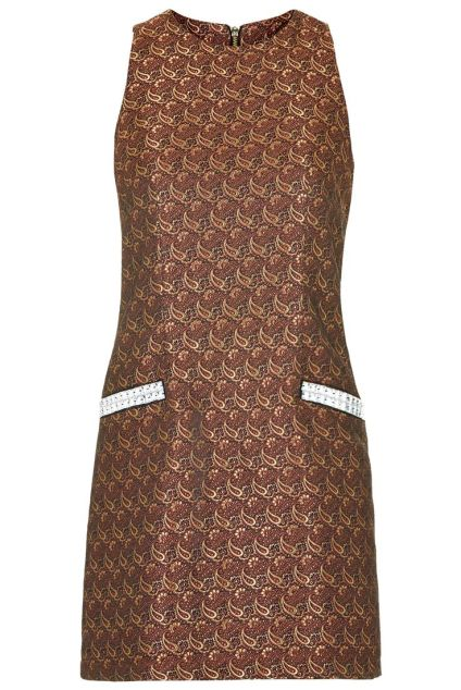 Brocade Paisley Shift £65 from Topshop
