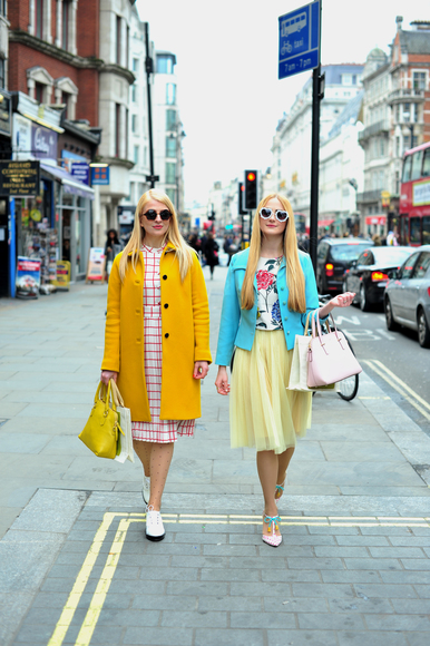 #LFW: Day 2 Street Style | Twinning Pastels | She and Hem | 2015