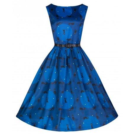 'Audrey' Retro Black Cat Print Swing Dress £29.99 from Lindy Bop