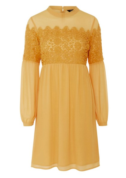 Lace Trim Long Sleeve Dress £35 from F&F