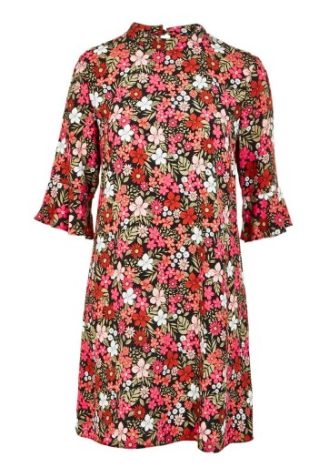 Retro Floral Print Bell Sleeve Dress £18 by F&F