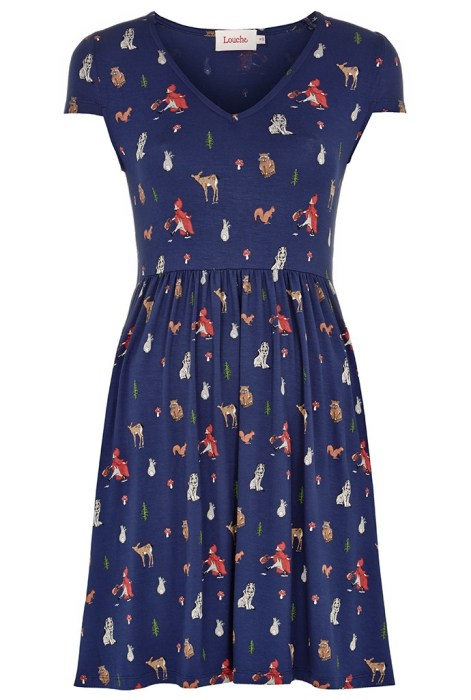 Chaney Woodland Jersey Dress £45 by Louche at Joy