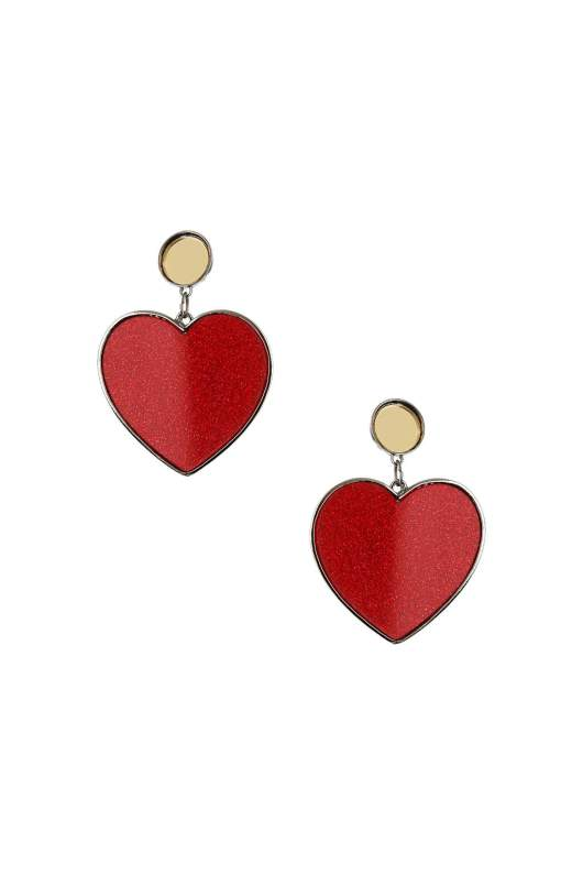 Accessories to Murder | She and Hem | Valentine's Day | Heart Earrings
