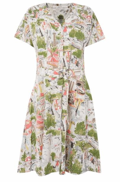 Printed Button Up Front Dress £60 from Braintree at House of Fraser