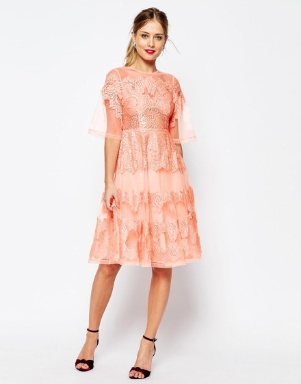 Lace And Organza Midi Dress £95.00 from ASOS Salon
