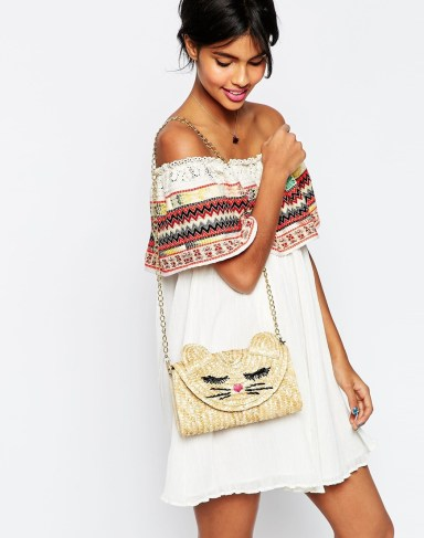 Straw Cat Clutch Bag £25.00 from ASOS