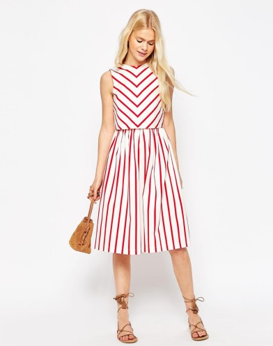 Stripe Picnic Dress with Double Layer £50 from ASOS