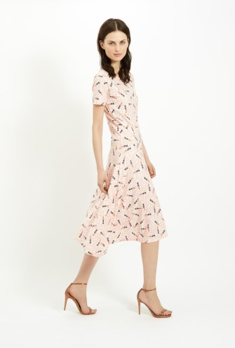 Zandra Rhodes Lipstick Asymmetrical Dress in Pink £85 from People Tree