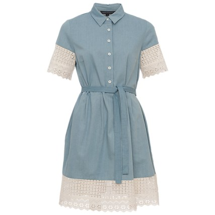 Double Thumbs Dresses #79 | Holiday Lace Short Sleeve Dress £95 from French Connection at John Lewis