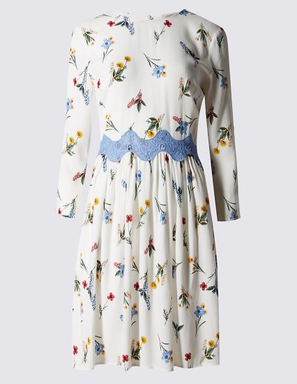 Double Thumbs Dresses #78 | Floral Smocked Shift Dress £39.50 from Marks and Spencer