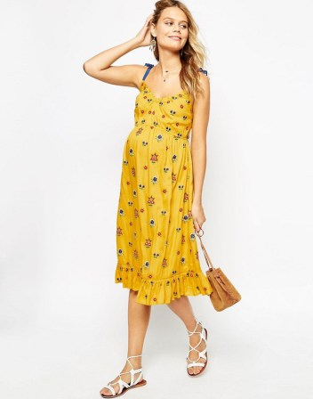 4fddbf76cf1a Double Thumbs Dresses #80 | Midi Dress with Floral Embroidery £42 from ASOS  Maternity