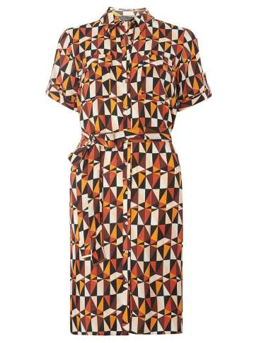 She and Hem | Rust And Brown Triangle Shirt Dress £26.60 (reduced - full price £35) from Dorothy Perkins