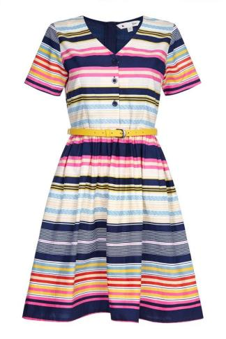 Stripe Belted Dress £55 from Yumi