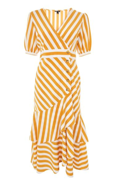 Cutabout Stripe Ruffle Midi Dress £46 from Topshop | She and Hem | Double Thumbs Dresses #92