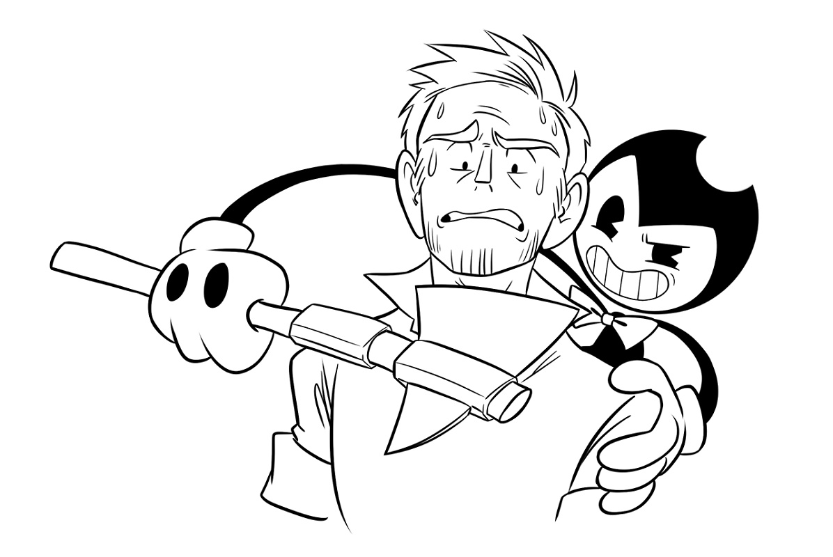 Bendy And Boris Coloring Pages - Sheapeterson - Coloring ...