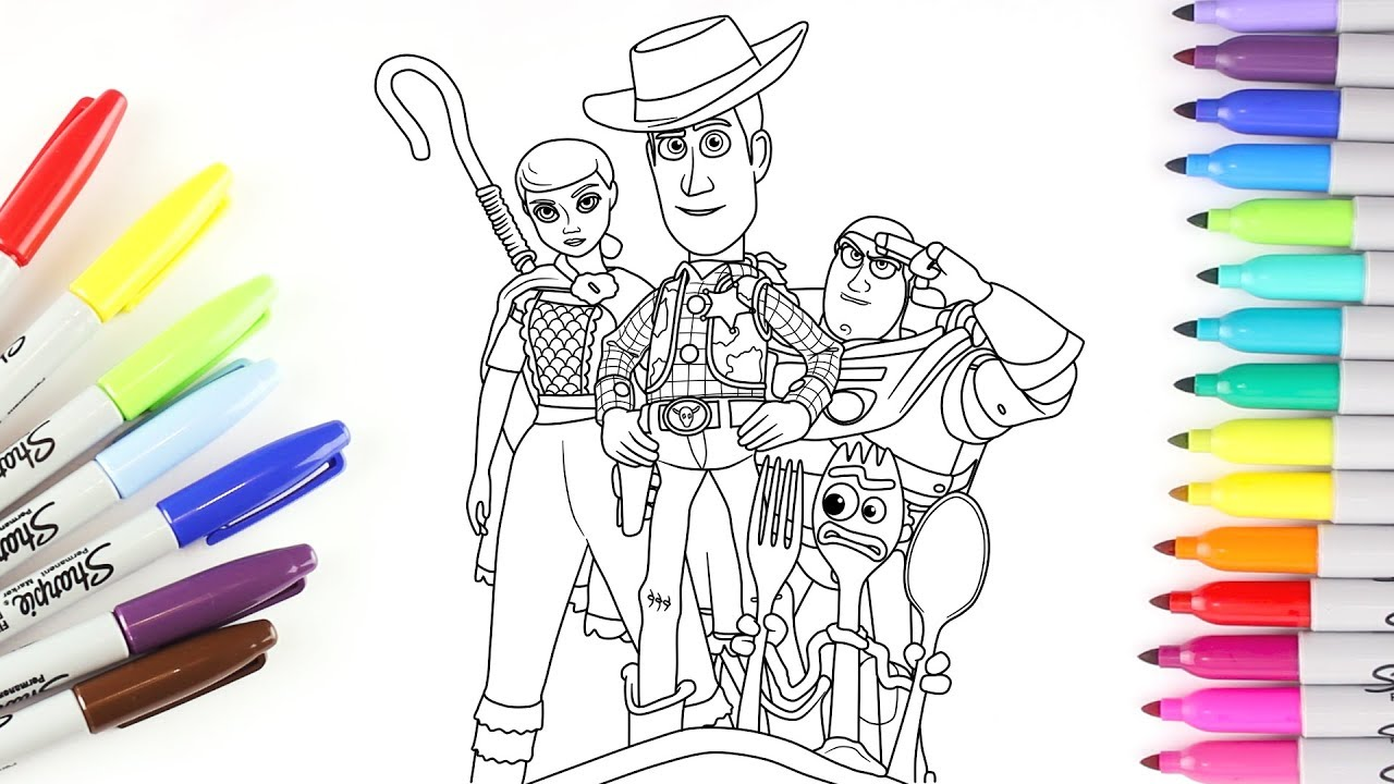 Toy Story 4 Coloring Pages Woody And Forky - Sheapeterson ...