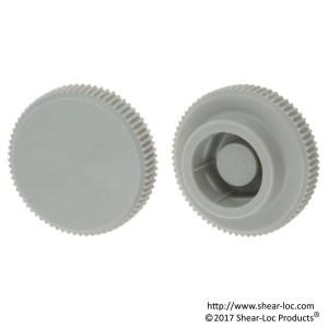 knurled knob gray