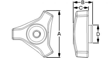 Tri-Lobe Nut Dimensions