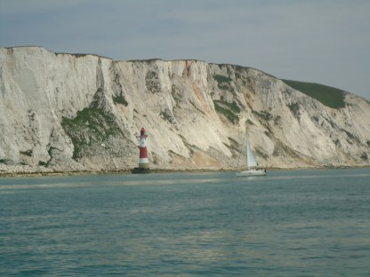 Yacht At Beachy Head Lighthouse