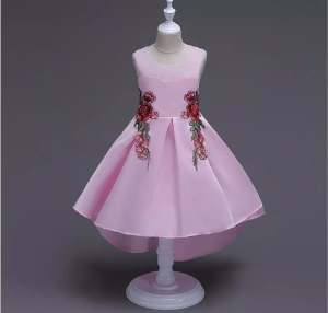 Beautiful Pink Dress For Kids Girl – Eid Collection