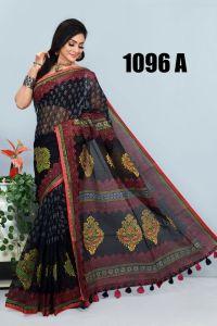 আকর্ষণীয় দেশীয় পিউর মসলিন সিল্ক শাড়ি - Charulota Fashion