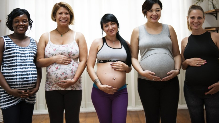 Mothers at Lamaze Class