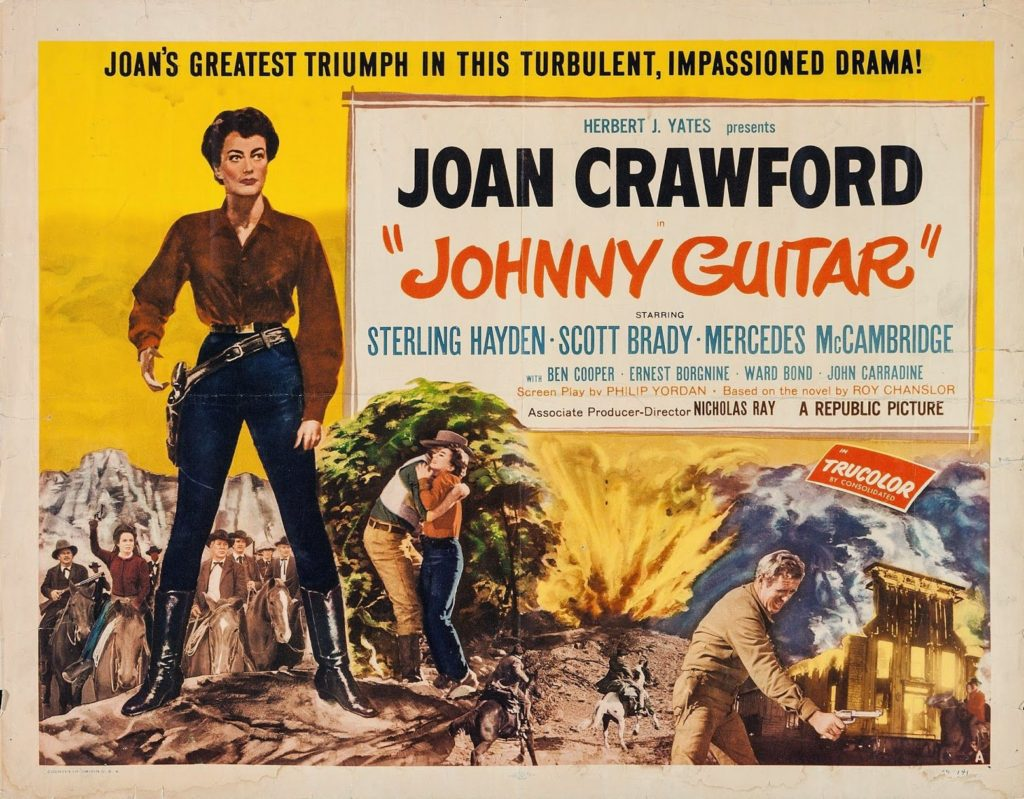 Johnny guitar, joan crawford, western movie poster : Johnny Guitar (1954) • She Blogged By Night