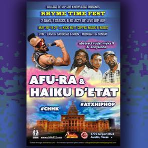 Event: Rhyme Time Fest (Austin, TX)  @CollegeofHHKnow