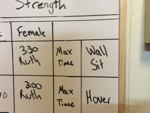 Wall Sit board and my results!